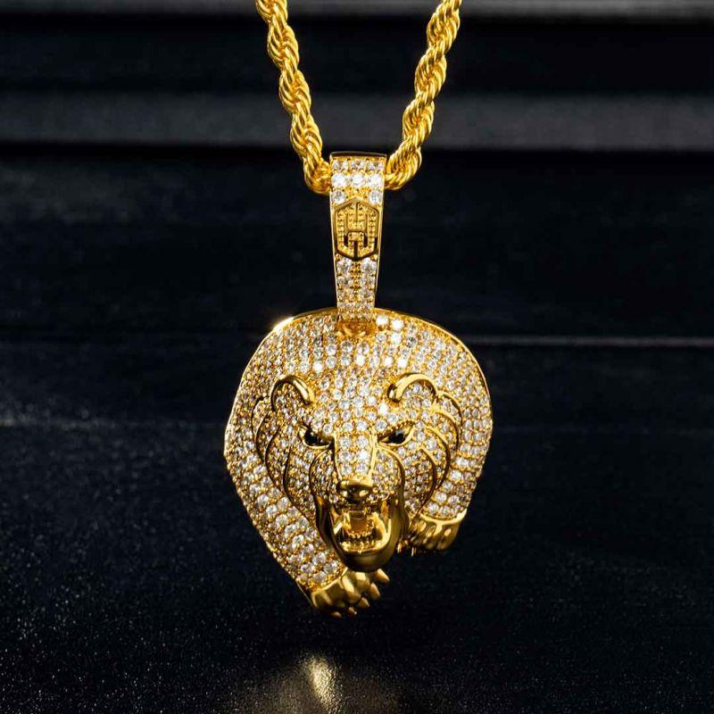 The Walking Bear Pendant in Gold