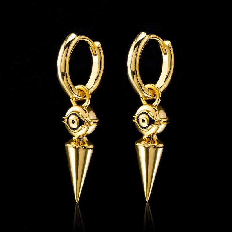 Eye of Horus Stainless Steel Dangle Earrings