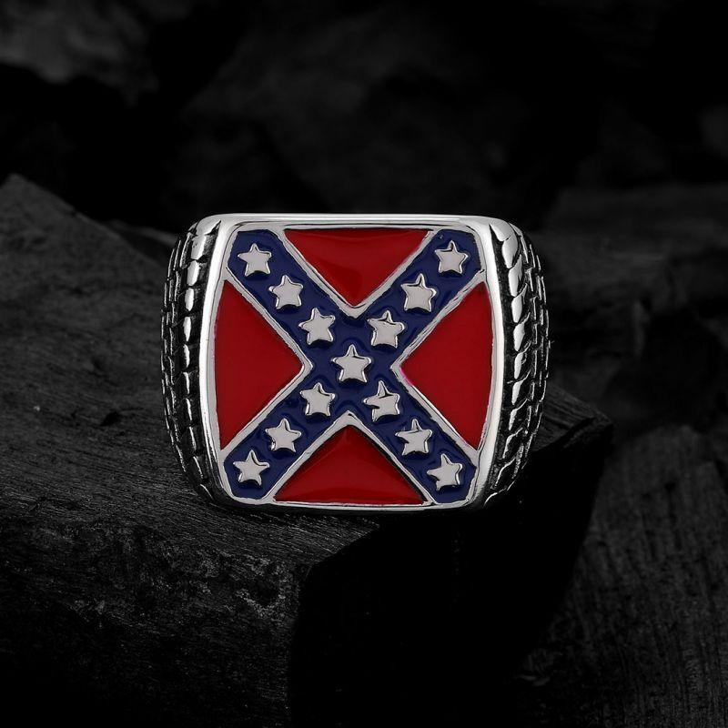 Americal Cross Stainless Steel Ring