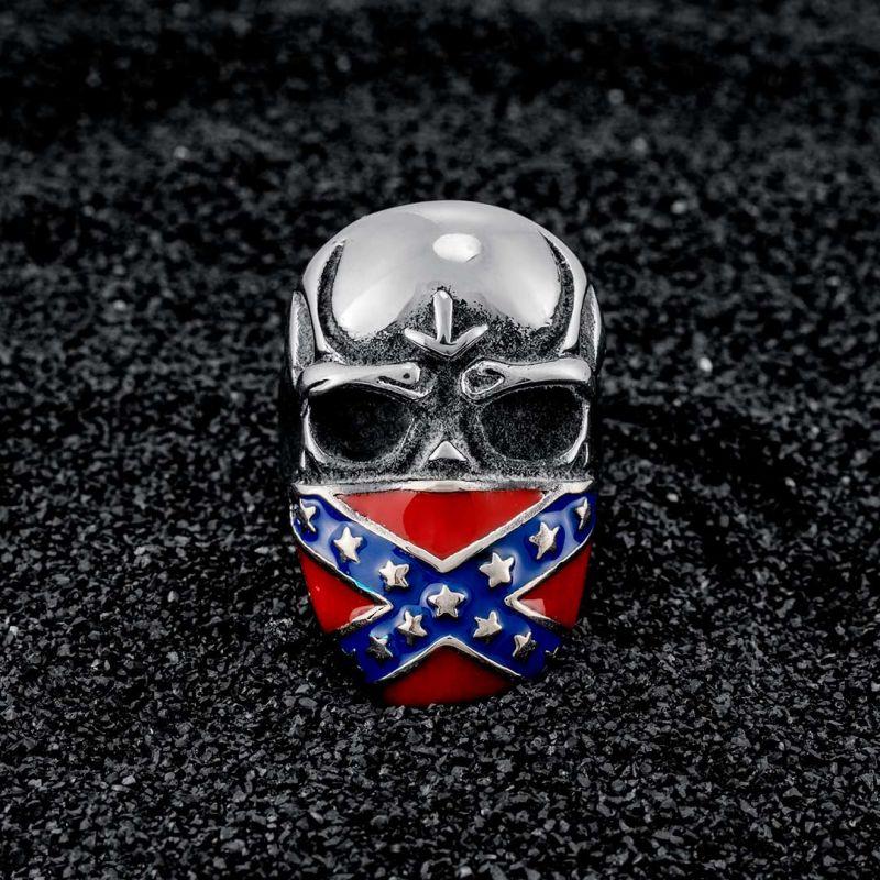 Mask Skull Stainless Steel Ring