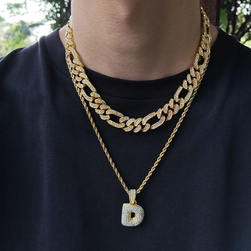 13mm Iced Figaro Cuban Link Chain