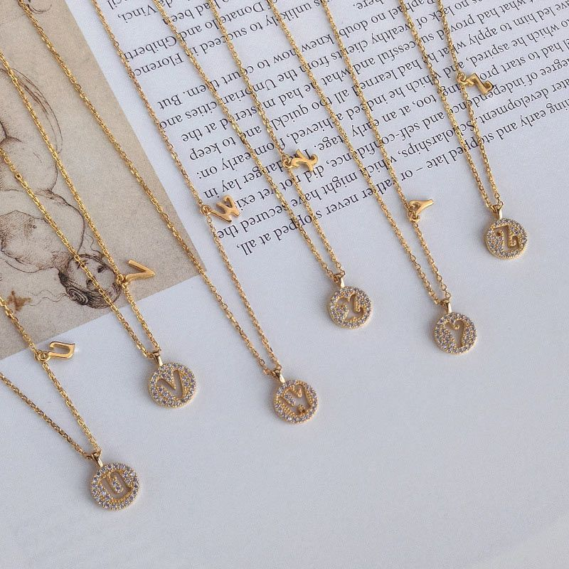 Helloice Iced Initial Letter Necklace