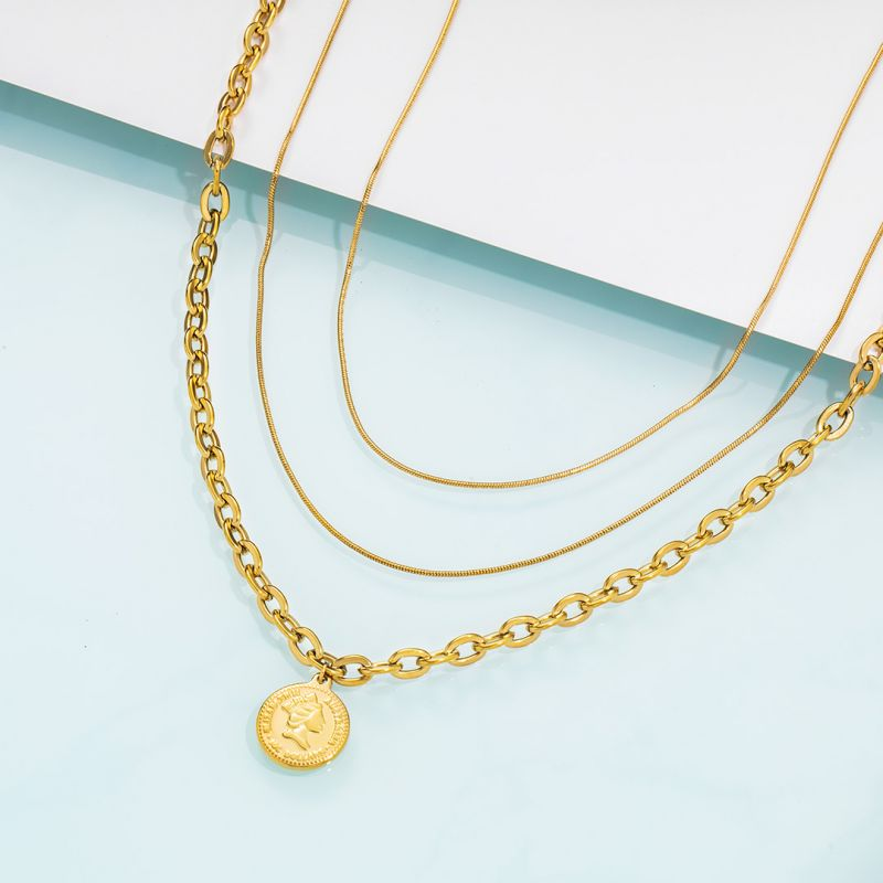 Helloice Women's Gold Coin Multi Layered Necklace