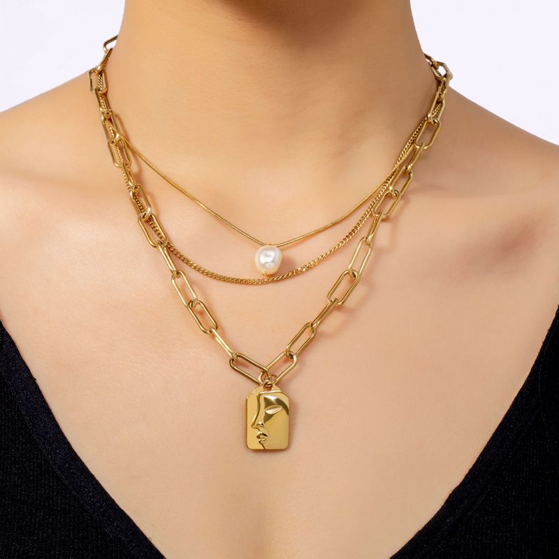 Helloice Women's Assorted Triple Layered Necklace