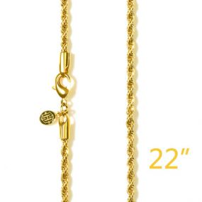 """3mm 22"""" Gold Rope Chain"""