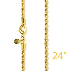 """3mm 24"""" Gold Rope Chain"""
