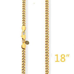 "5mm 18"" Gold Cuban Chain"