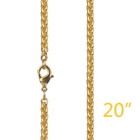 """3mm 20"""" Gold Franco Chain"""