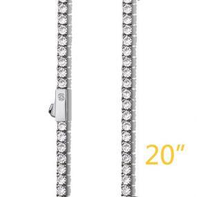 """3mm 20"""" Tennis Chain+$49"""