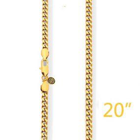 "5mm 20"" Gold Cuban Chain"