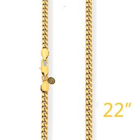 "5mm 22"" Gold Cuban Chain"