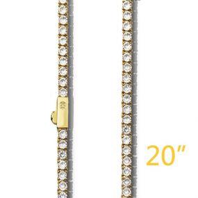 """3mm 20"""" Gold Tennis +$49"""