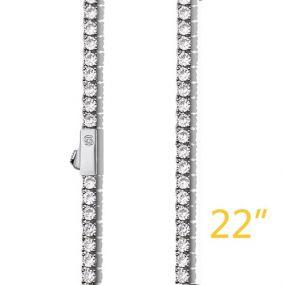 """3mm 22"""" Tennis Chain+$49"""