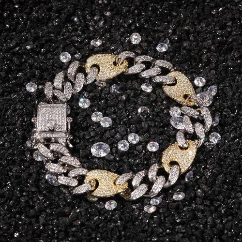13mm Two-Tone Cuban G-Link Bracelet