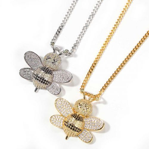 The Newest Iced Bee Pendant