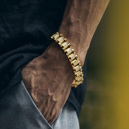 13mm Iced Luxury Watch Band Bracelet