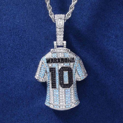 Iced Football Genius Maradona Jersey Pendant