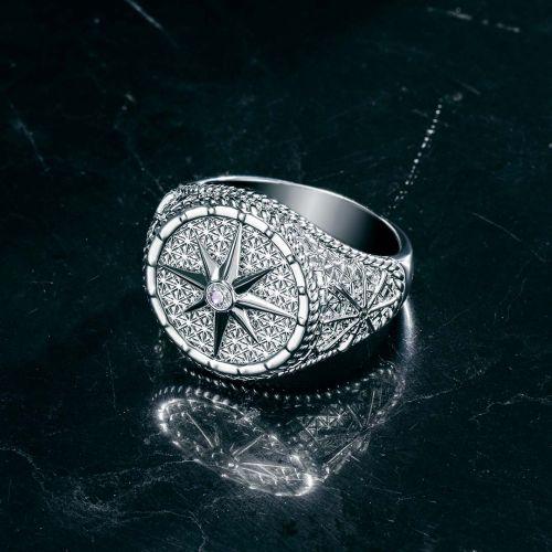 Sailor Rudder Anchor Compass Ring