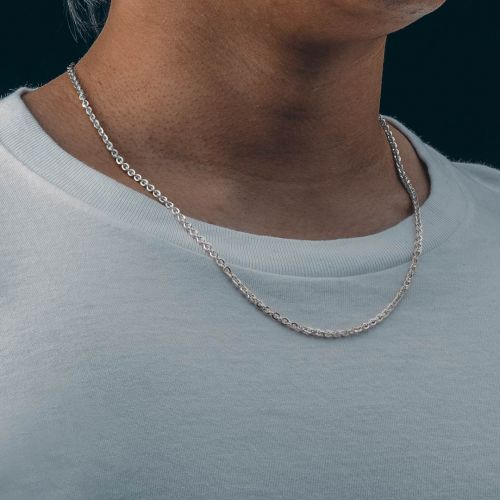 3mm Cable Solid 925 Sterling Silver Chain