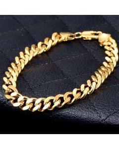 """5mm 8"""" 18K Gold Finish Miami Cuban Bracelet"""