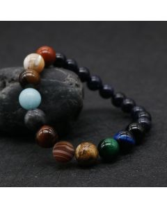 Fashion Natural Stone Universe Planets  Bead Bracelets