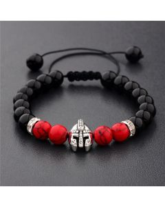 Spartan Warrior Helmet Beaded Bracelet