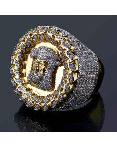 Jesus Head Ring in Gold