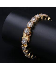 Clustered Tennis Bracelet in Gold