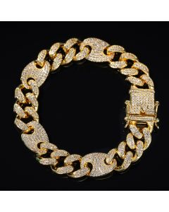 13mm Cuban G-Link Bracelet in Gold