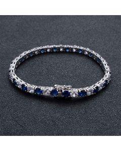 5mm Iced Two Tone Bracelet