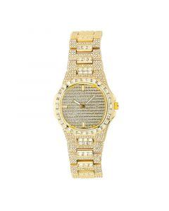 Iced Quartz Men's Fashion Watch in Gold