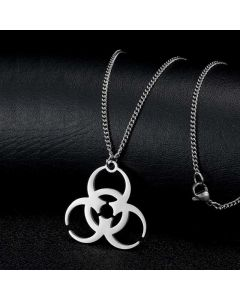 Biohazard Symbol Stainless Steel Pendant