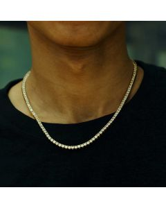 3mm Tennis Necklace in Gold