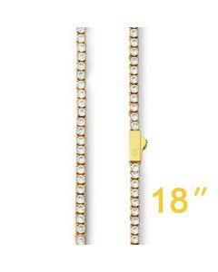 """18"""" 3mm Tennis Chain"""