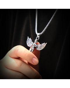 Praying Angel Titanium Steel Pendant