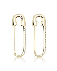 Iced Safety Pin Earrings