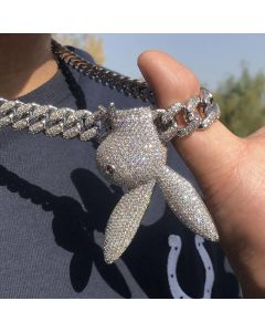 Upside Down Bunny Cuban Chain