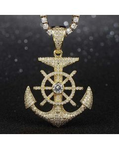 Iced Anchor And Rudder Pendant