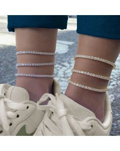 3mm Adjustable Tennis Anklet