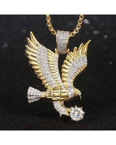 Iced Flying Eagle Pendant