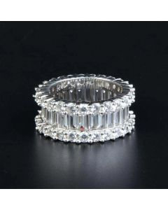 1.20 Ct Round & Baguette Cut Band