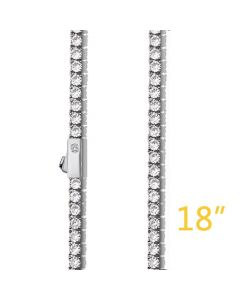 """3mm 18"""" Tennis Chain+$49"""
