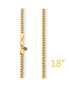 "5mm 18""Gold Cuban Chain"