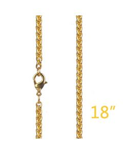 """3mm 18"""" Gold Franco Chain"""