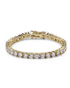 5mm 18K Gold Single Row Tennis Bracelet