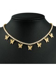 Butterflies Tennis Choker Necklace