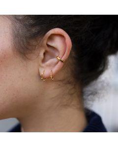 Tiny Orb Hinged Hoop Earring