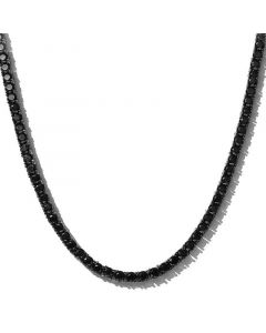 5mm Black Stones Tennis Chain in Black Gold