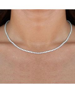 Women's 3mm Crystal Tennis Chain in White Gold