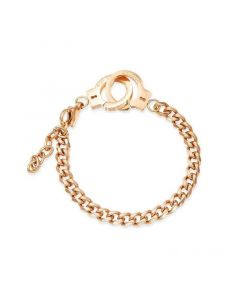 Handcuffs Cuban Bracelet in Gold